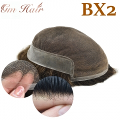 GM Hairpiece French Lace Natural Men Toupee Breathable Hairpiece Hair Replacement System