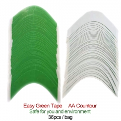 GM Hairpiece Walker Easy Green Hair System Toupee Wig Tape Double Sided Straight, AA, CC Contour Tapes