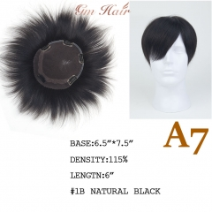 GM Hairpiece Human Hair Clip In Topper Full Hand Made For Men's. Breathable & Comfortable Replacement System